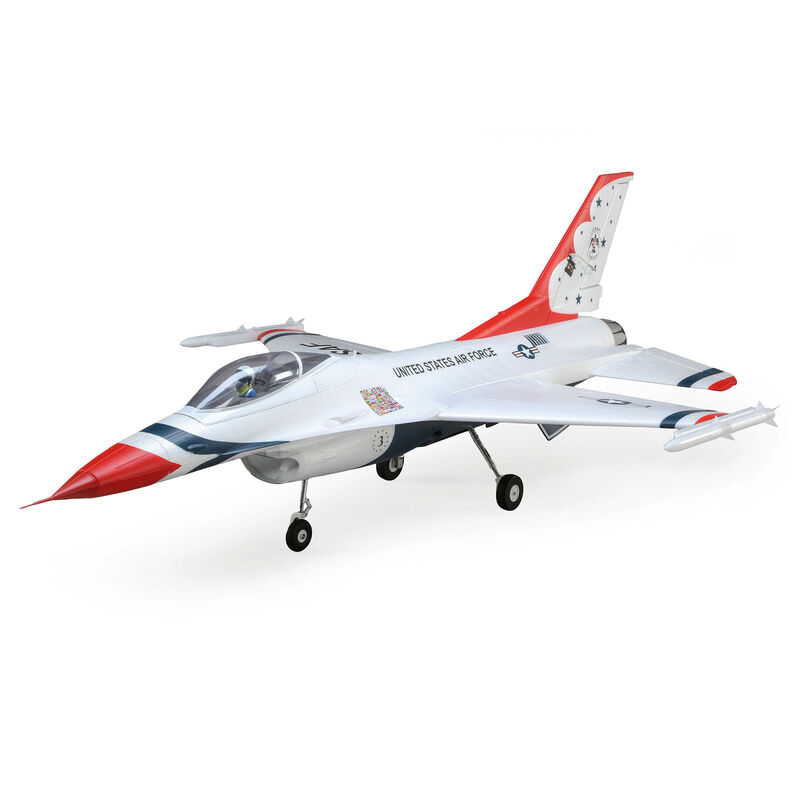 F-16 Thunderbirds 70mm EDF BNF Basic with AS3X and SAFE Select